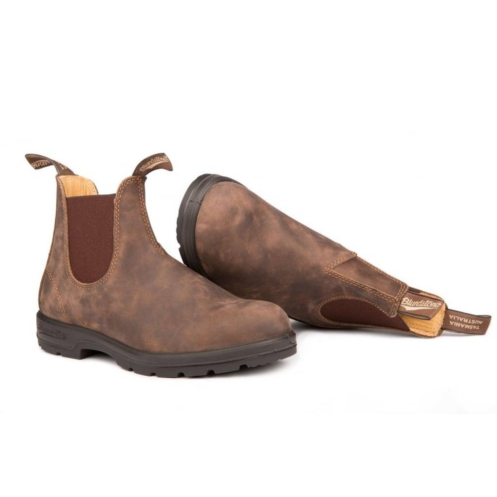 blundstone blundstone 585 chelsea leather rustic brown