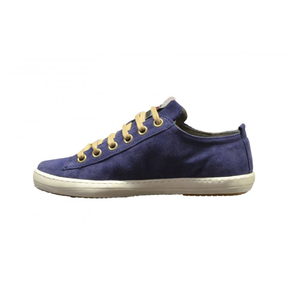 Campers Shoes Blue Suede