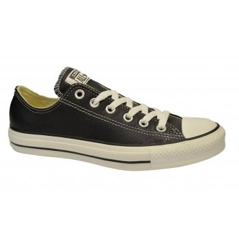 Converse All Star CT OX 132174C Black Leather (N17b#) Unisex Trainers