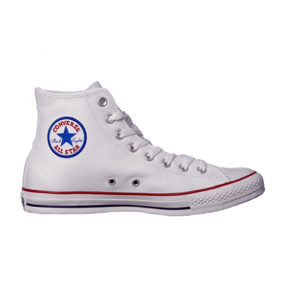 553463e05e70 ... Converse CT All Star Leather Hi Optical White (N54) 1U010 Unisex  Trainers ...
