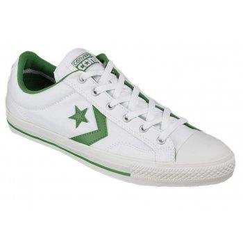 Converse Star Plyr Ox White / Green (Z16) 147463C Unisex Trainers