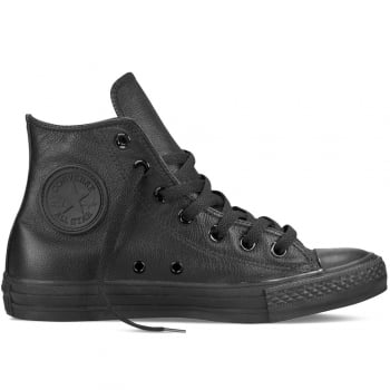 Converse CT AS Hi Leather Black Mono (N39) 135251C Unisex Trainers