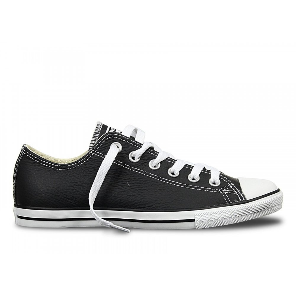 554c50e967ae1f Converse Converse CT Lean Ox Leather Black   White (N3) 144649 Unisex  Trainers ...