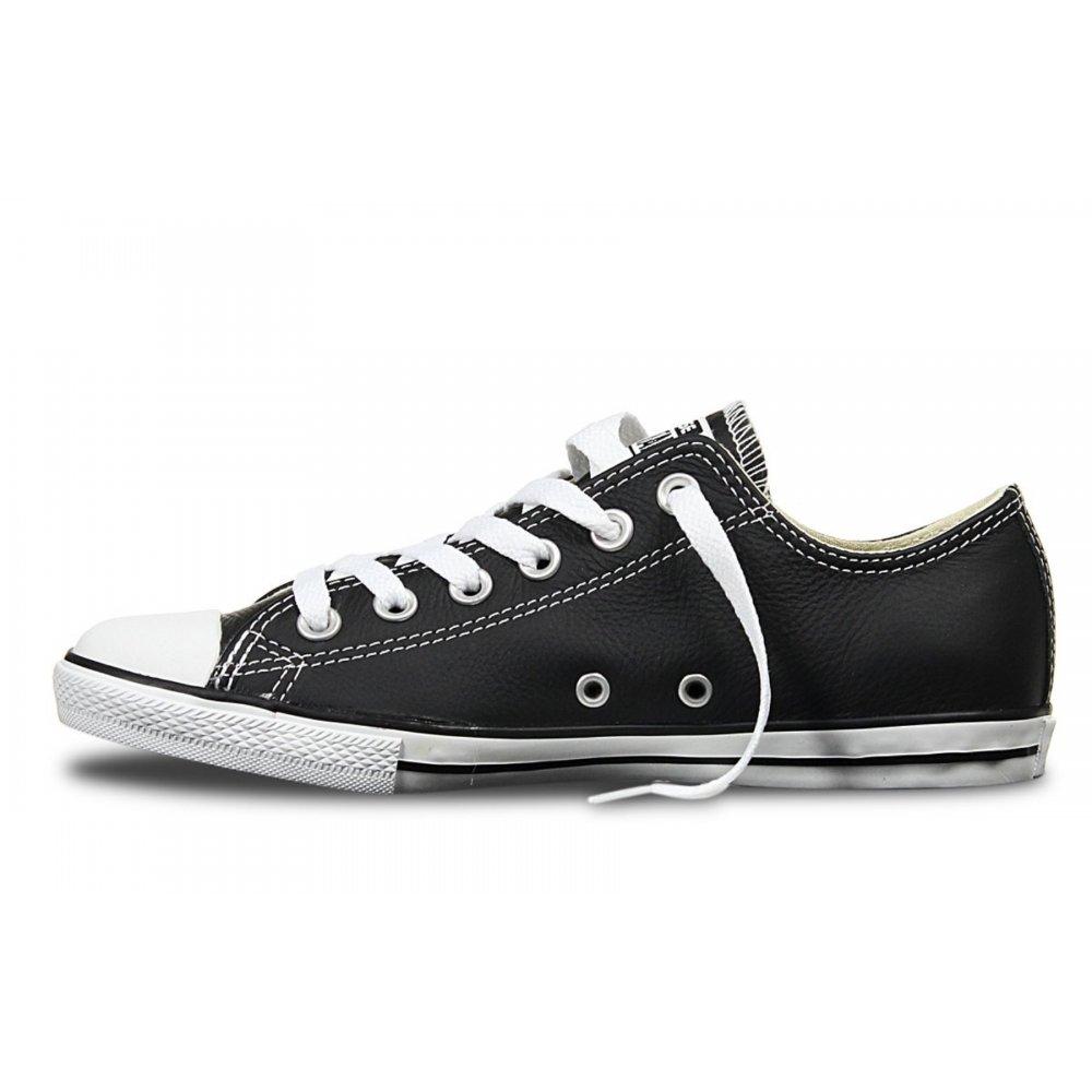 458c6344049e ... Converse Converse CT Lean Ox Leather Black   White (N3) 144649 Unisex  Trainers ...