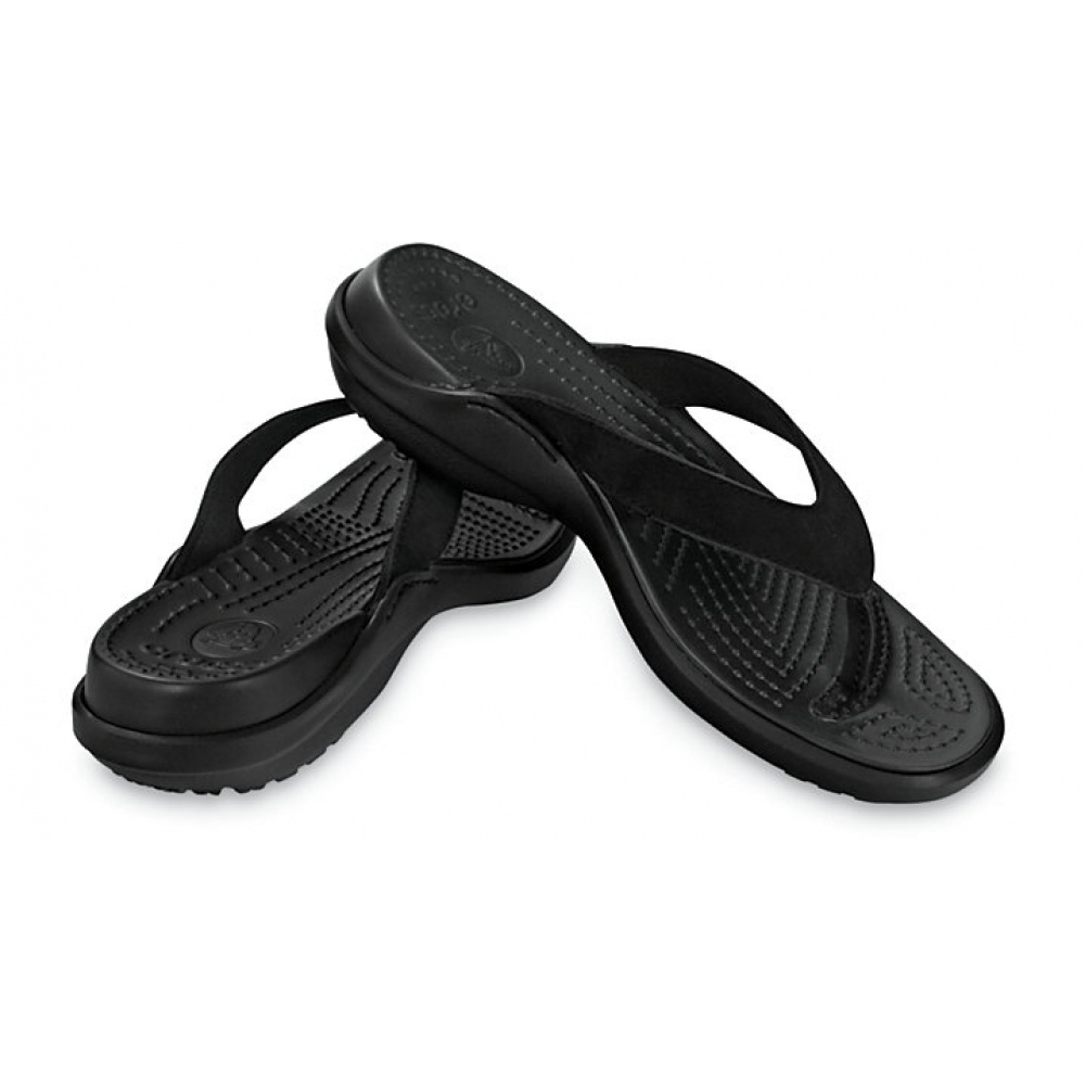 812c55ac0db5 ... Crocs Capri IV Black   Black (UX5) 11211-060 Womens Flips   Sandal. ‹