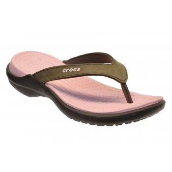 Crocs Capri IV Espresso / Petal Pink (U3) 11211-28M Womens Flips / Sandal