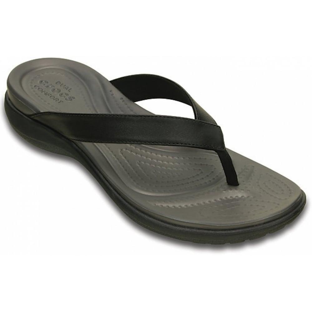 crocs crocs capri v black graphit u2 202502 02s womens flips sandal crocs from pure. Black Bedroom Furniture Sets. Home Design Ideas