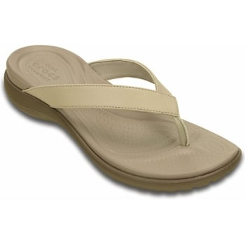 Crocs Capri V Chai / Walnut (UX8) 202502-27L Womens Flips / Sandal
