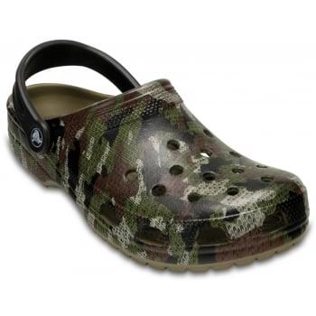 Crocs Classic Camo Khaki (U3) 204154-260 Mens Clogs