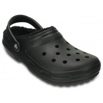 Crocs Classic Lined Black / Black (UX3) 203591-060 Unisex Shoes / Clogs