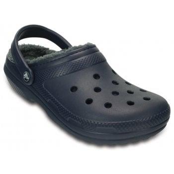 Crocs Classic Lined Navy / Charcoal (U2) 203591-459 Unisex Shoes / Clogs