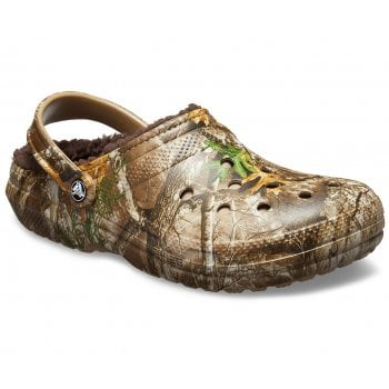 Crocs Classic Lined Realtree Edge Chocolate / Chocolate (Z12) 205377-280 Mens Clogs