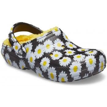 Crocs Classic Lined Vacay Black / Daisy (UX7) 207301-0ZI Unisex Clogs