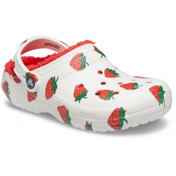 Crocs Classic Lined Vacay White / Strawberry (UX-5) 207301-1F5 Unisex Clogs