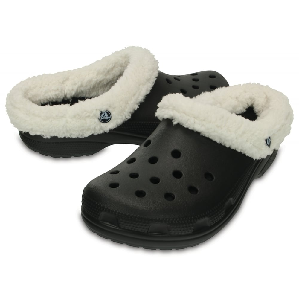 d8c8b8d3e ... Crocs Classic Mammoth Lined Black   Oatmeal (UX7) 203596-00Z Unisex  Shoes