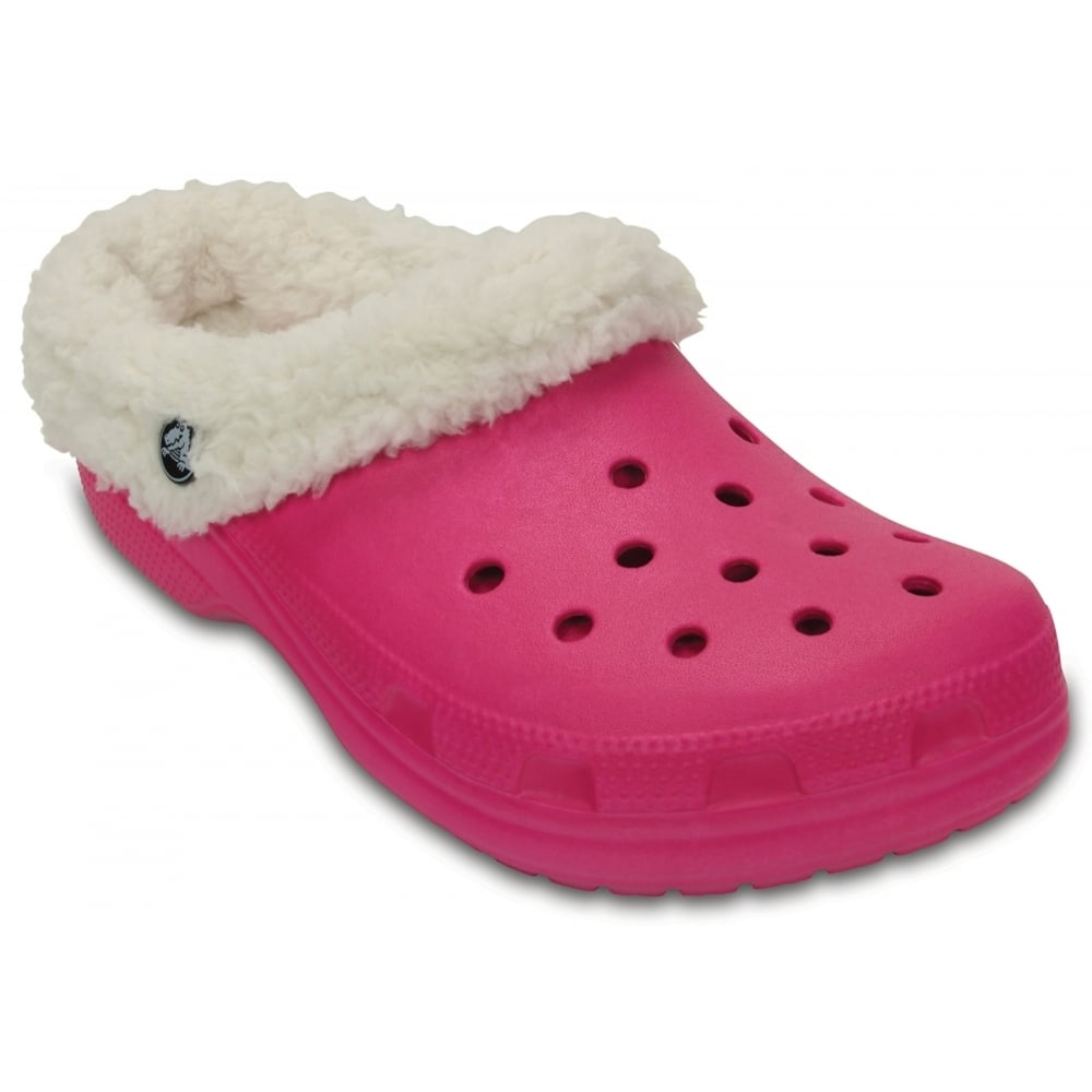 5d48bf892d4a94 Crocs Classic Mammoth Lined Candy Pink   Oatmeal (UX1) 203596-6ME Unisex  Shoes   Clogs