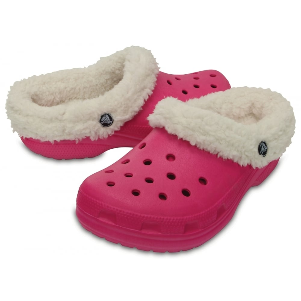 d54b1c0cd ... Crocs Classic Mammoth Lined Candy Pink   Oatmeal (UX1) 203596-6ME Unisex  Shoes ...