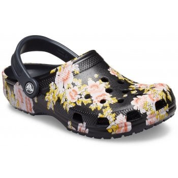 Crocs Classic Printed Black / Floral (Z29) 206376-0CV Unisex Clogs