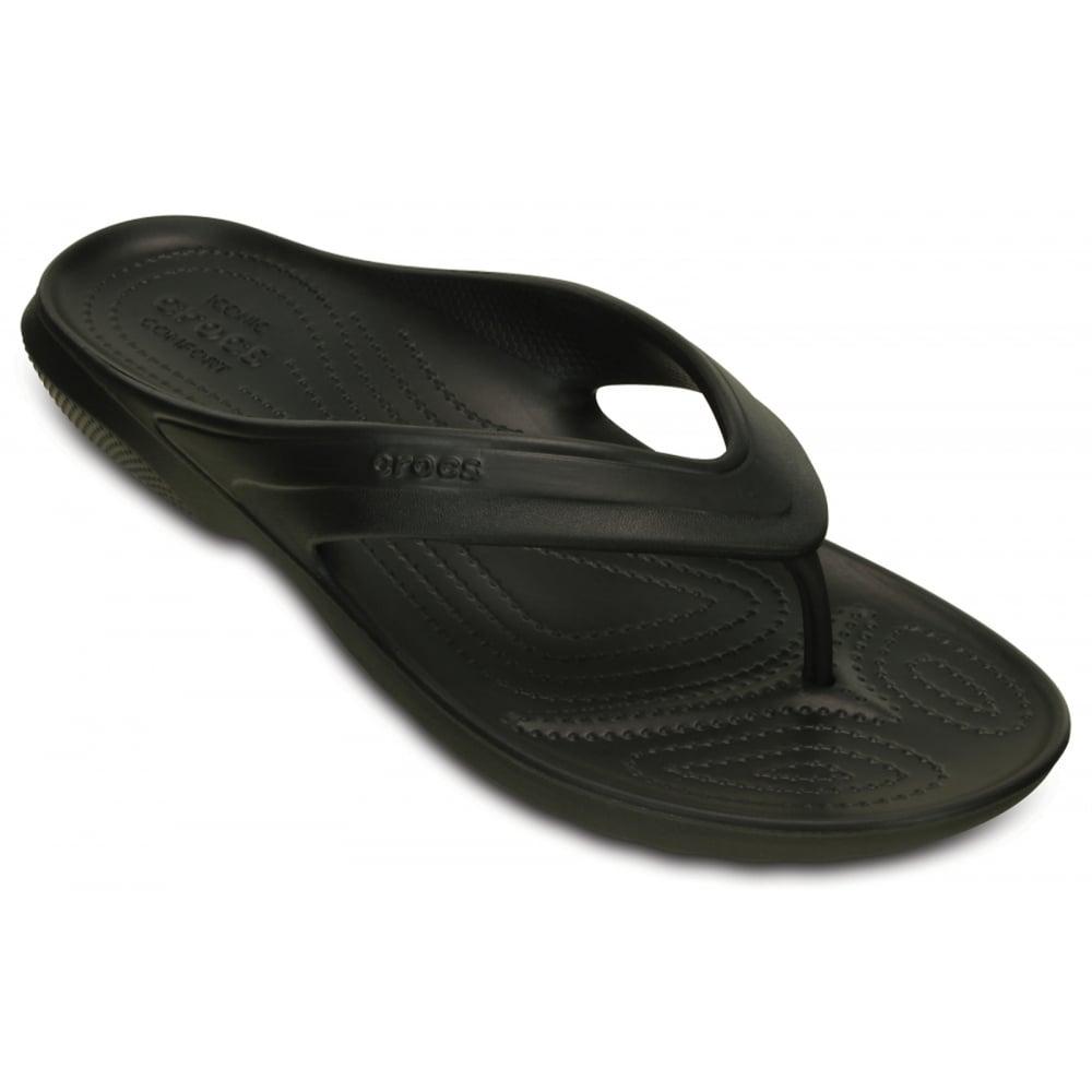 62b492c019a7 Crocs Classic Relaxed Fit Black (UX5) 202635-001 Mens Flips