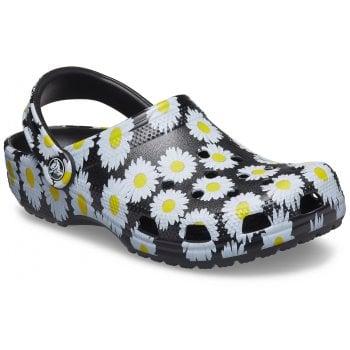 Crocs Classic Vacay Vibes Black Daisy (UX6) 206375-0ZI Unisex Clogs