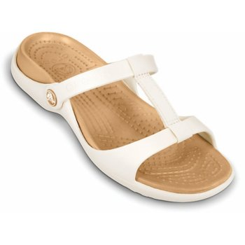 Crocs Cleo III Oyster / Gold (UX1) 11216-13S Ladies Sandal