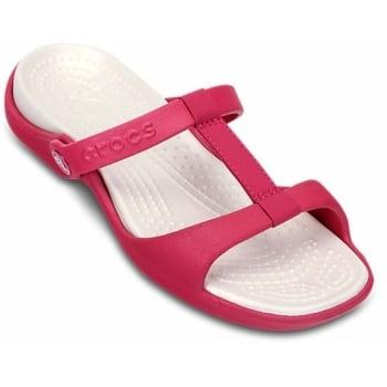Crocs Cleo III Raspberry / Oyster (UX7) 11216-65L Ladies Sandal