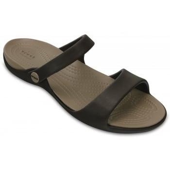 Crocs Cleo V Espresso / Mushroom (Z113) 204268-23D Ladies Sandal