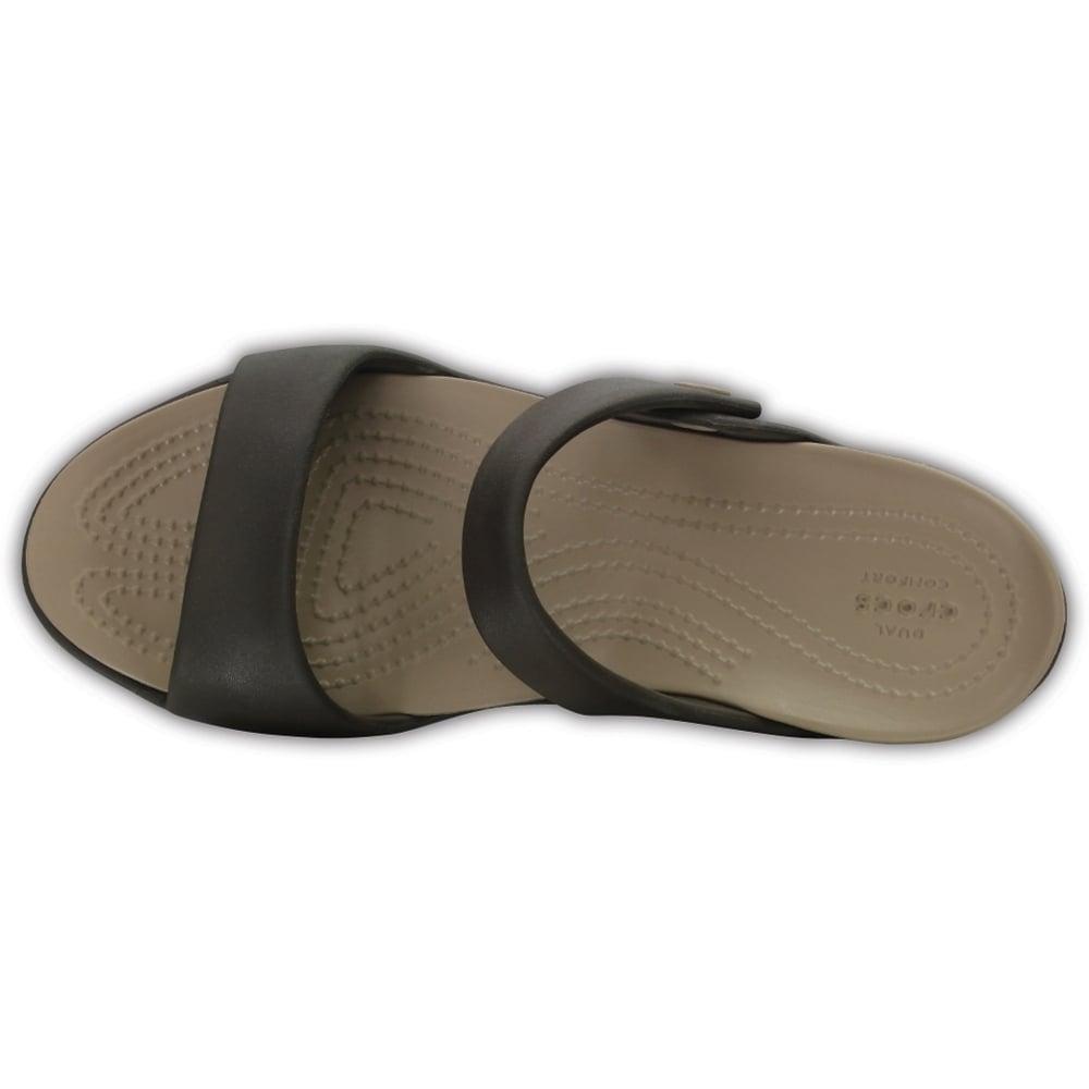 fd189dbb0c8b ... Crocs Cleo V Espresso   Mushroom (Z113) 204268-23D Ladies Sandal. ‹
