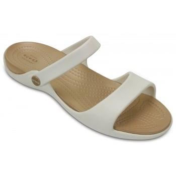 Crocs Cleo V Oyster / Gold (Z23) 204268-13S Ladies Sandal