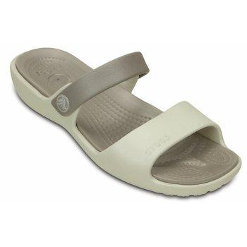 Crocs Coretta Oyster / Platinum (U3) 200067-1AJ Ladies Sandal
