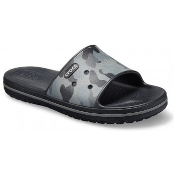 Crocs Crocband III Graphic Slate Grey / Black (UX2) 205583-0DY Unisex Slide