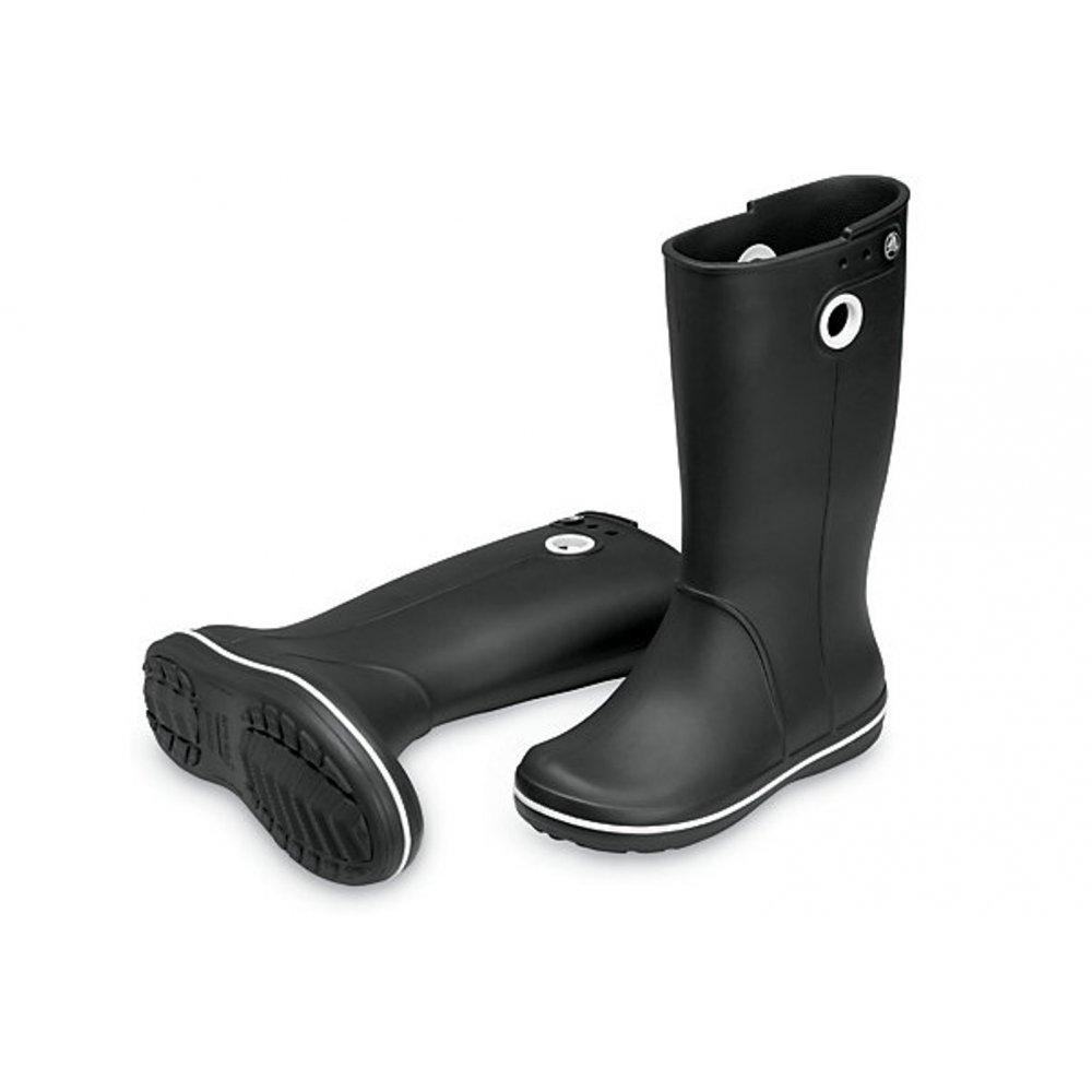 Crocs Crocs Crocband Jaunt Black (Z8) Womens Wellies / Rain Boots ...