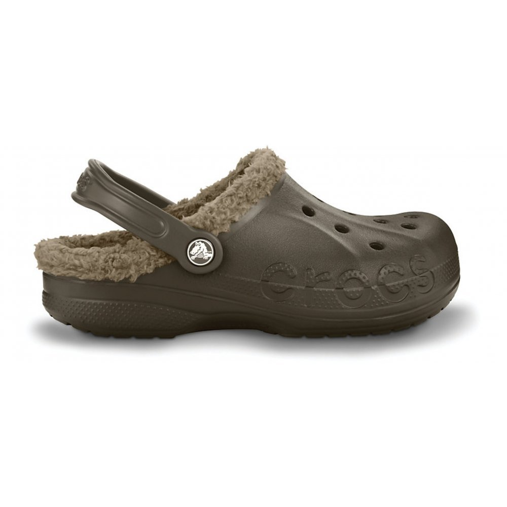 Crocs Crocs Baya Lined Espresso / Khaki (b19) Unisex Shoes / Clogs - Crocs From Pure Brands UK UK