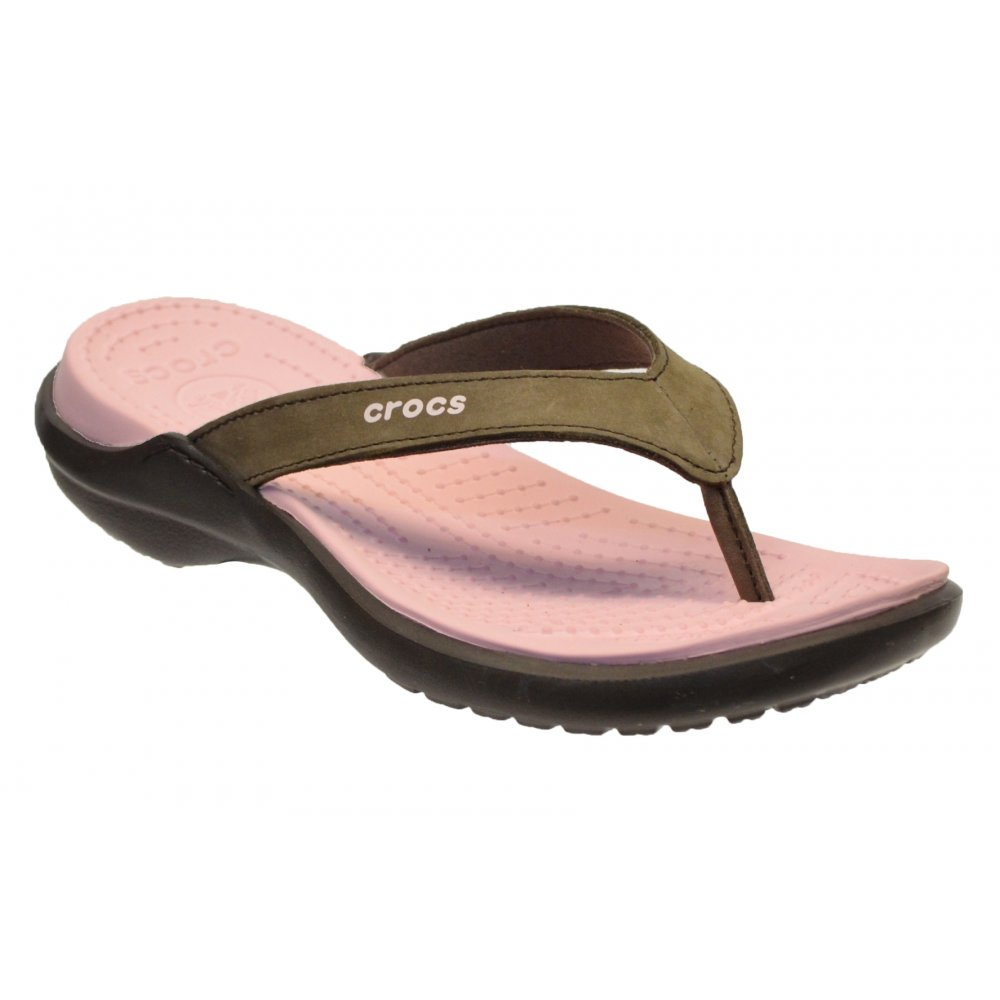 ef219f5761b8 Crocs Capri IV Espresso   Petal Pink (U3) 11211-28M Womens Flips   Sandal