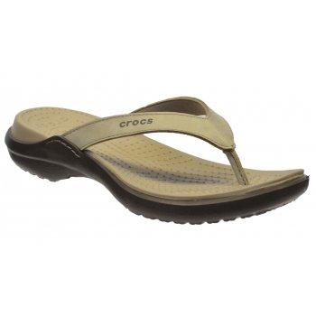 Crocs Capri IV Mushroom / Espresso (U1) 11211-13B Womens Flips / Sandal