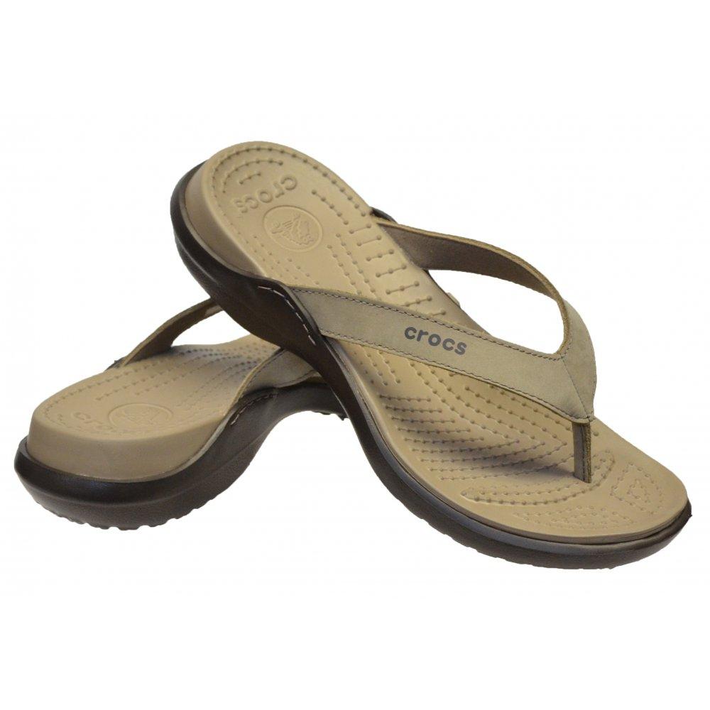 89f104848aa3 ... Crocs Capri IV Mushroom   Espresso (U1) 11211-13B Womens Flips   Sandal  ...