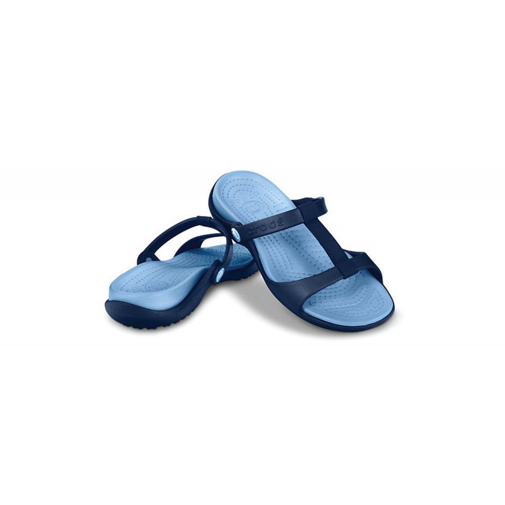 Crocs Crocs Cleo Iii Navy Light Blue K6 Ladies Sandal