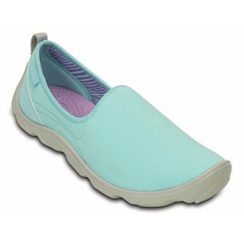 Crocs Duet Busy Day Skimmer Ice Blue / Perl White (Z28) 14698-4CV Ladies Trainers
