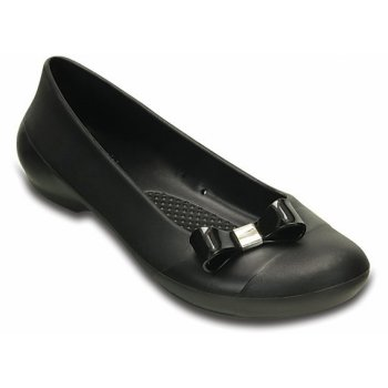 Crocs Gianna Bow Black / Black (UX8) 200871-060 Ladies Flat