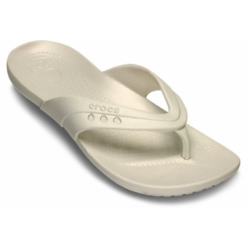 82b45adefd753d Crocs Crocs Kadee Oyster (U2) 14177-159 Womens Flip Flop - Crocs ...