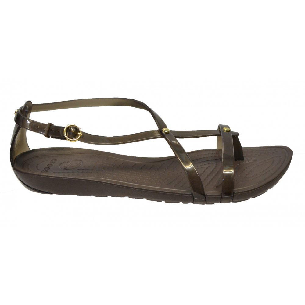 Original Crocs Crocs Capri IV Mushroom / Espresso (N200) Womens Sandal - Crocs From Pure Brands UK UK
