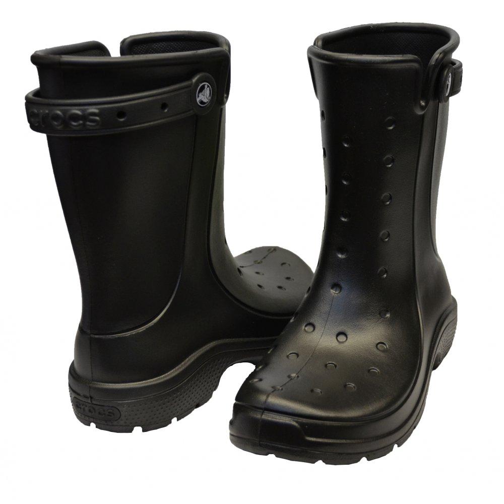 crocs crocs reny ii black n59 16010 wellie mens