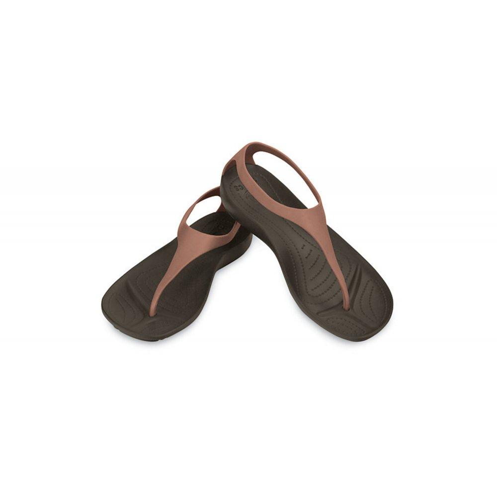 6bd9b152b9ea Crocs Crocs Sexi Flip Bronze   Espresso (N16) Womens Sandal - Crocs ...