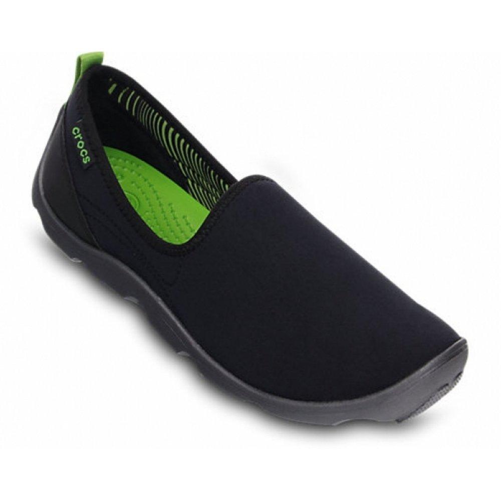 Crocs Duet Busy Day Skimmer Black / Graphite (Z5) 14698-02S Ladies Trainers  ...