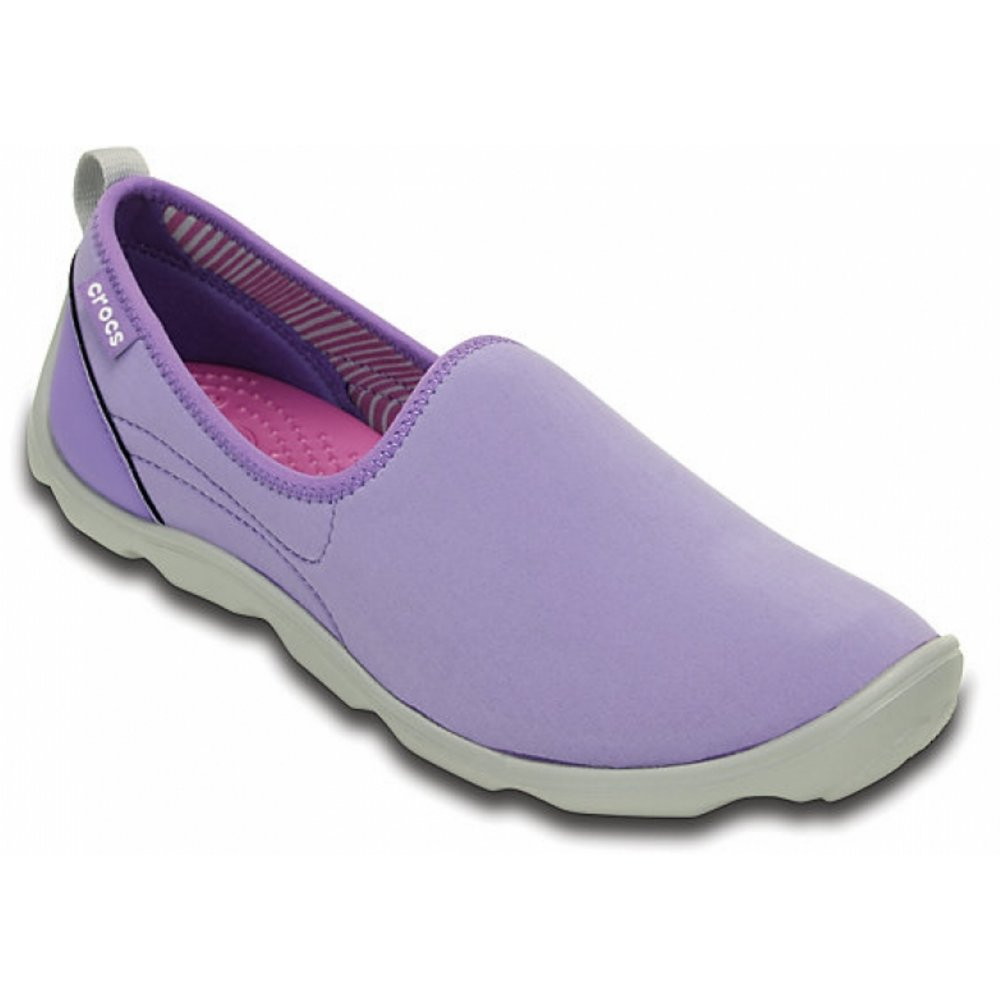 5b4c040b9691 Crocs Duet Busy Day Skimmer Blue Violet   Light Grey (Z26) 14698-5K3 Ladies  Trainers