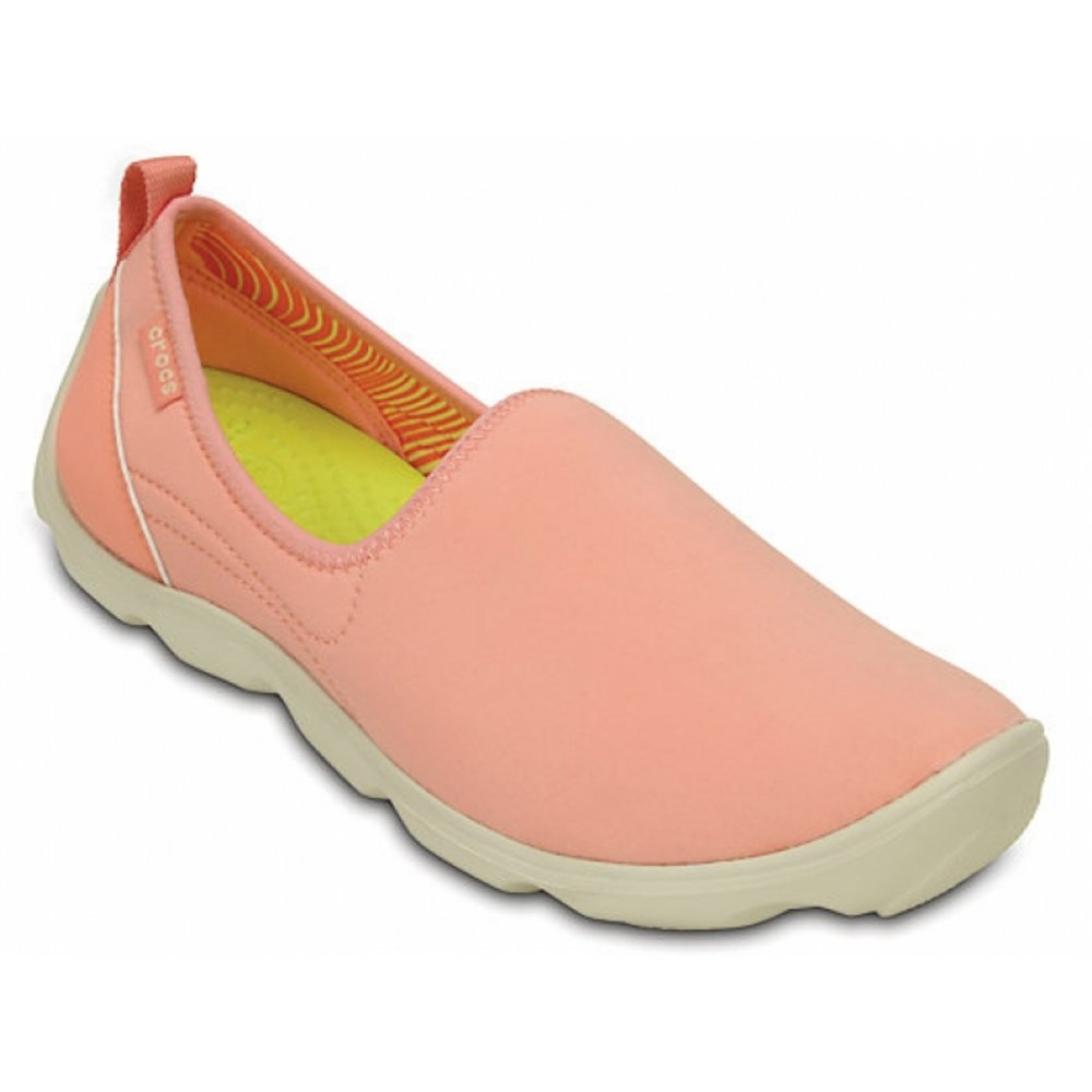 c16e0f30a8e7 Crocs Duet Busy Day Skimmer Melon   Stucco (Z12) 14698-6KM Ladies Trainers