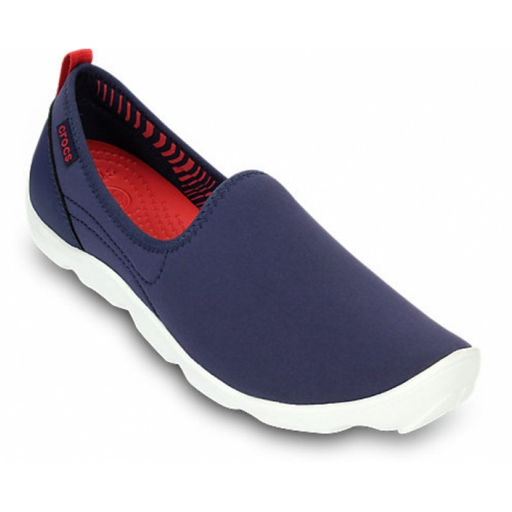 e206567f9c86 Crocs Duet Busy Day Skimmer Nautical Navy   White (Z1) 14698-4F8 Ladies  Trainers