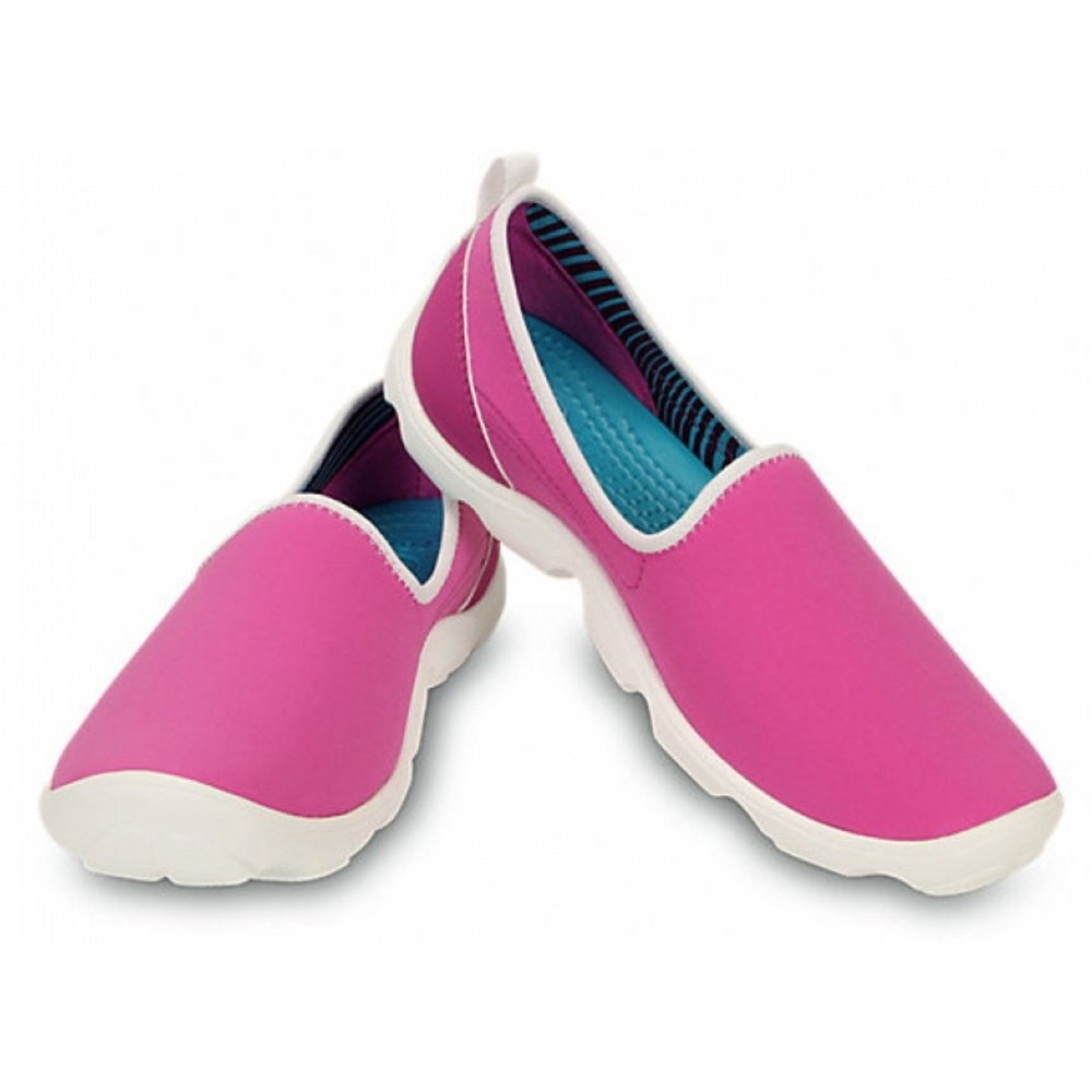 f129199910cb ... Crocs Duet Busy Day Skimmer Vibrant Violet   White (N45) 14698-5A9  Ladies ...