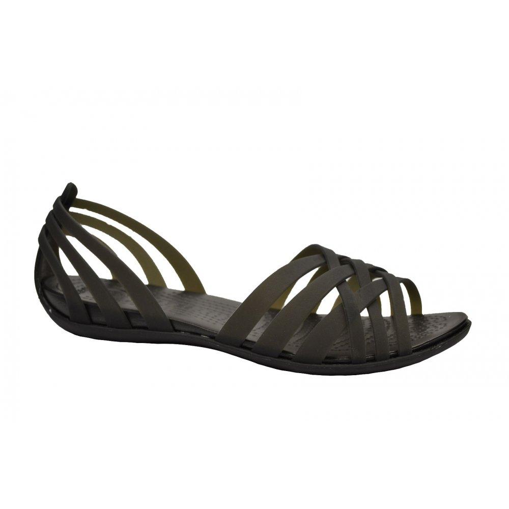 754a286c599cf Crocs Crocs Huarache Flat Black   Black (U3) Womens Sandal - Crocs ...