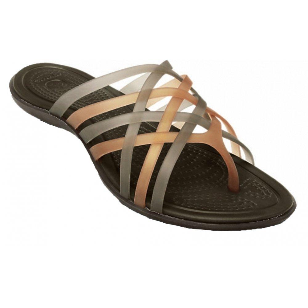 ea7e5bb0ce88 Crocs Huarache Flat Bronze   Espresso (U1) 14122-80Z Ladies Flip Flops